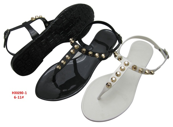 a290cdce9 The smell of Suo Linda T type butterfly knot plastic sweet comfortable Thong  Sandals Flip jelly